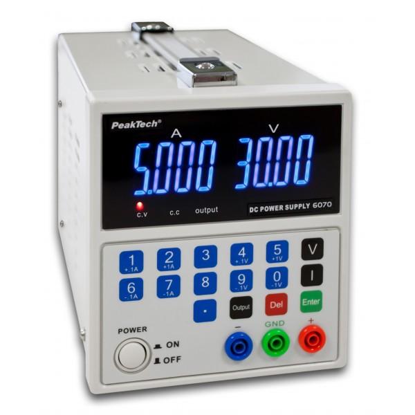 0-15 v//0-3 a DC PeakTech 6080 Digital laboratorio rete dispositivo//Laboratory power supply