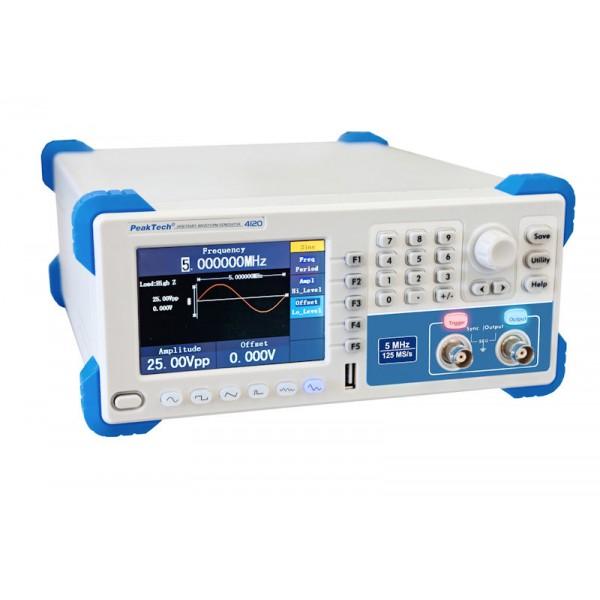PeakTech 4120 - DDS Arbitrary Waveform Generator, 1 µHz - 5MHz, 1 Channel,  14 bits Vertical