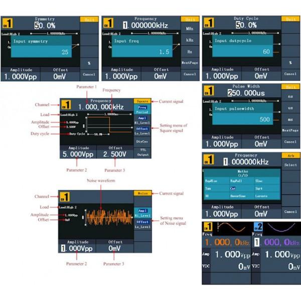 PeakTech 4124 - DDS Arbitrary Waveform Generator, 1 µHz - 10 MHz, 2